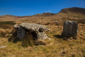 Ancient Megalithic Tomb near the Conor Pass in Kerry..,