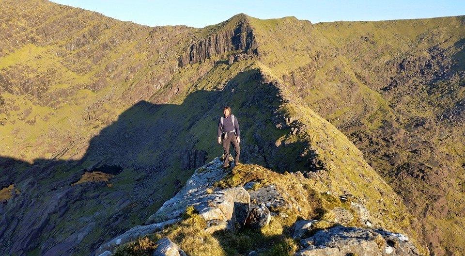 John walking the ridge on Mount Brandon