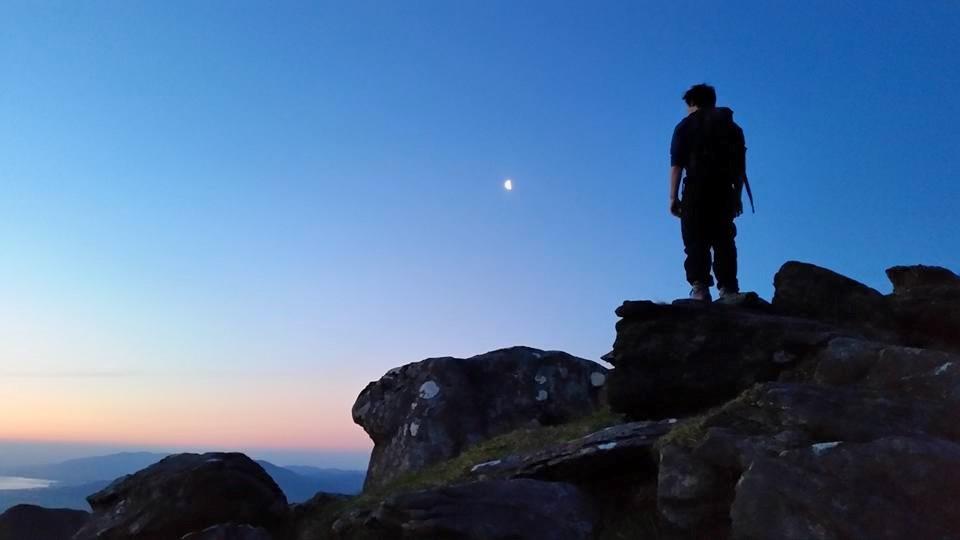 On top of Brandon Mountain at sunrise