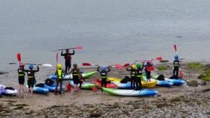 kids sea kayaking